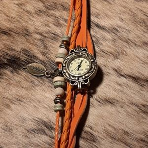 Coral/orange Layered Quartz Watch